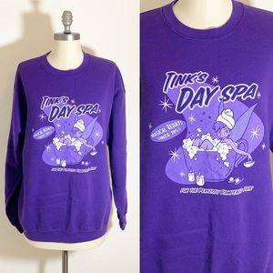 Tinkerbell Spa Pixie Disney Crew Neck Sweatshirt